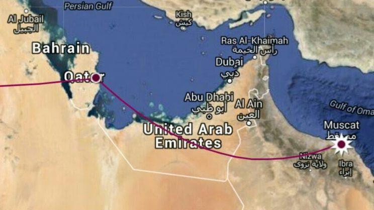 Oman to Qatar